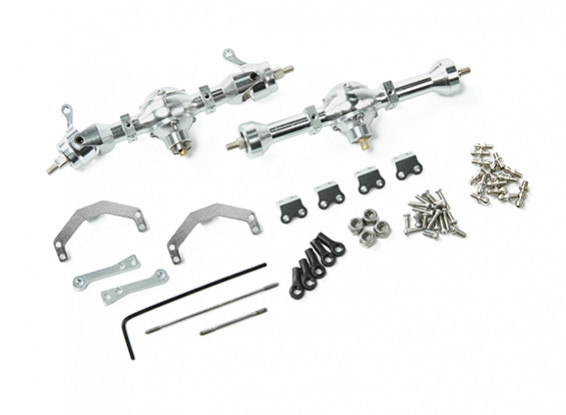 Upgrade/Spare Part MA2-550 55mm Alu. Axle Unit (complete) - OH35P01 1/35 Rock Crawler Series