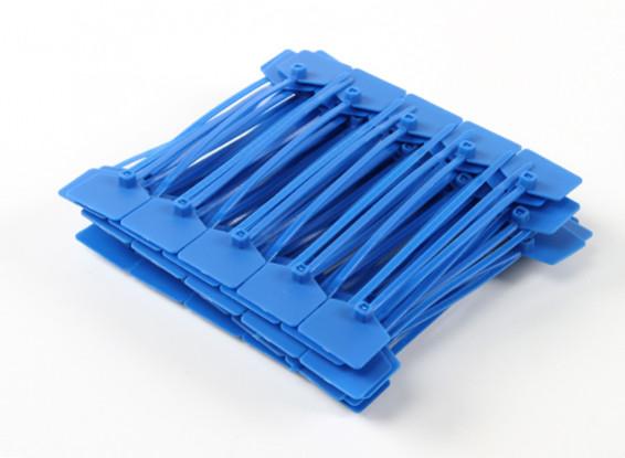 Kabelbinder 120mm x 3mm Blau mit Marker-Tag (100pcs)