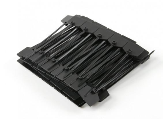 Kabelbinder 120mm x 3mm Schwarz mit Marker-Tag (100pcs)