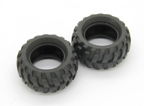Reifen (2 Stück) - Basher Rocksta 24.01 4WS Mini Rock Crawler