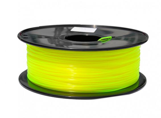 PLA Translucent Yellow 1kg 1.75mm HobbyKing