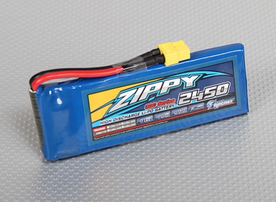 ZIPPY FlightMax 2450mAh 2S1P 30C (USA-Lager)