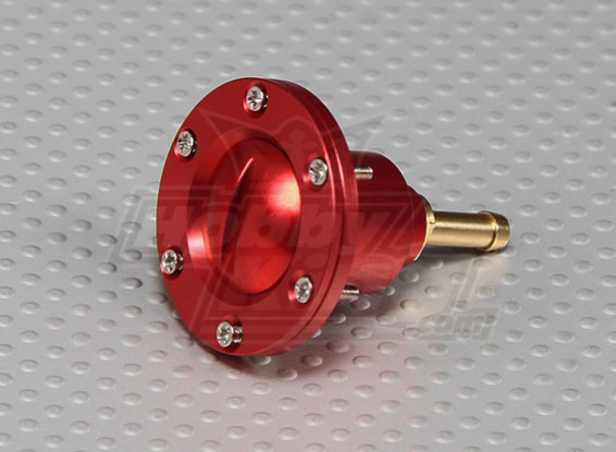 CNC-Legierung Kraftstoff-Füllstutzen für große Gas / Turbinenmodelle (Kraftstoff-Punkt - Rot)