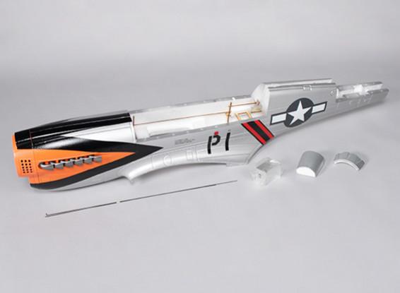 P-40N (Silber) 1700mm - Ersatz des Rumpfs