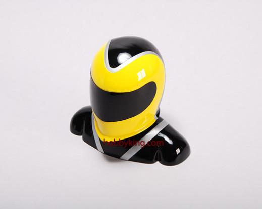 Fiberglass Pilot Modell Yellow & Black (X-Large)