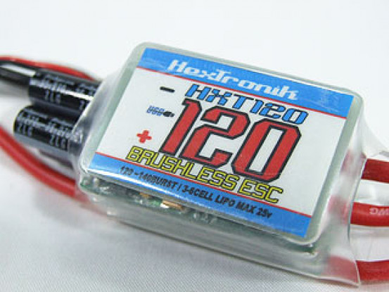hexTronik PRO 120A BESC w / PC Programmierbarkeit