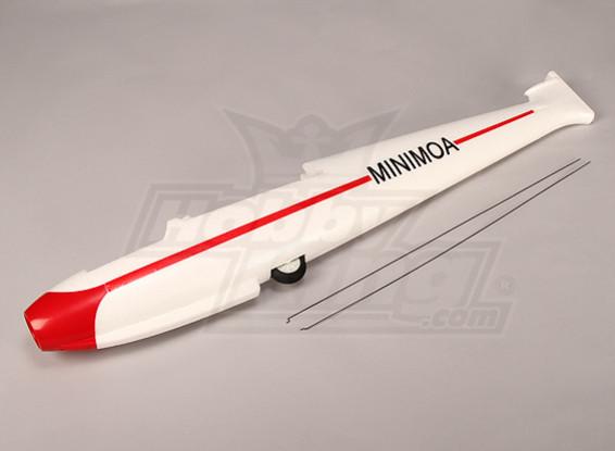 Minimoa - Ersatz des Rumpfs und die Kontrolle von Rod Set