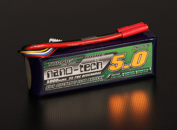 Turnigy Nano-Tech-5000mAh 4S 35 ~ 70C Lipo-Pack