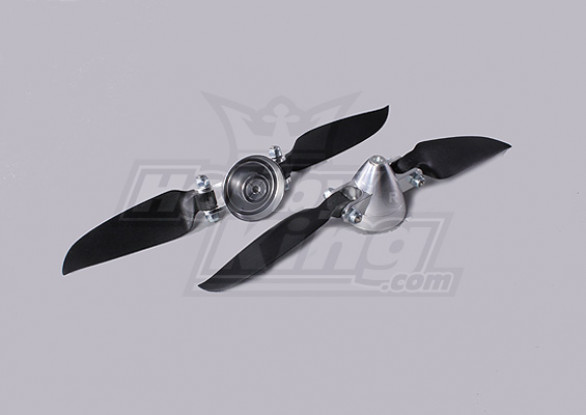 Folding Propeller Assembly 6.5x3 (Alloy / Nabe Spinner) (2pc / bag)