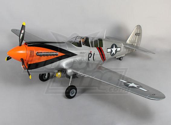 P-40N Riesenwaage 6s w / Klappen, Lichter & fährt 1700mm EPO (PNF)