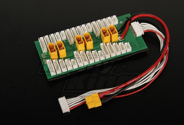Hobbyking Parallel-Brett für 6 Packungen 2 ~ 6S (XT-60) Lade