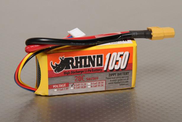 Rhino 1050mAh 3S 11.1V 20C Lipo-Pack