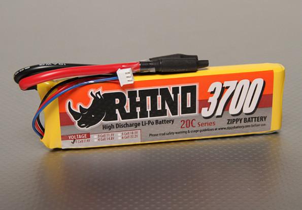 Rhino 3700mAh 2S1P 20C Lipo-Pack