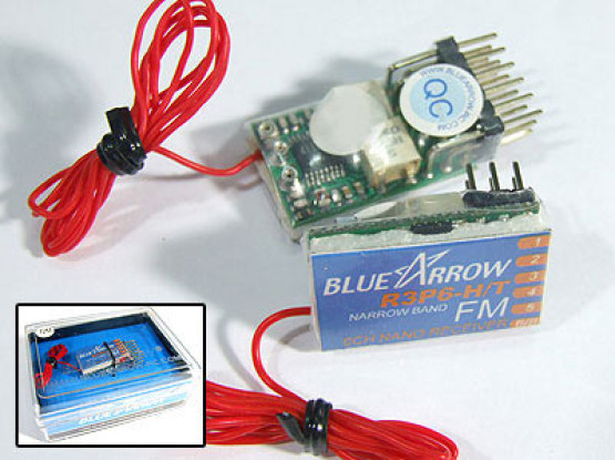 Pfeil 6CH 3.9g 41MHz FM Micro-Empfänger