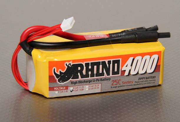 Rhino 4000mAh 4S2P 25C Lipo-Pack