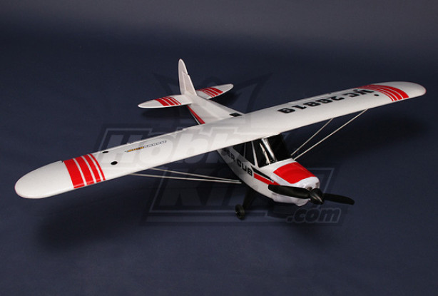 Piper PA-18 Supercub Plug-n-Fly 18A Brushless w / 3 Servos EPO