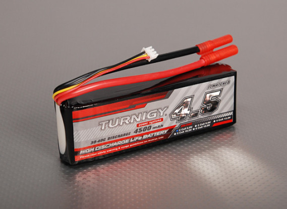 Turnigy 4500mAh 2S2P 30C LiFePO4-Pack