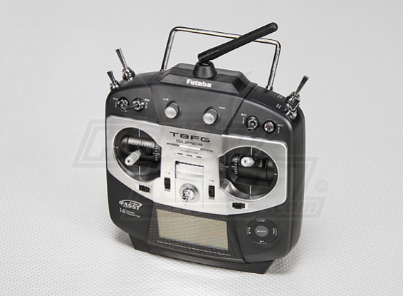 Futaba T8FG Super-14CH Transmitter w / R6208SB 2,4-GHz-Empfänger (Modus 1)
