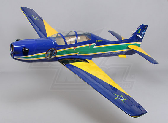 Embraer Tucano Glass Fiber w / Flaps 1650mm Glow (ARF)