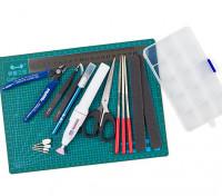 14 Piece Hobby Tools Set w/ Mini Rotary Tool