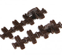Micro Engineering HO Scale Code 100 to 83 Transition Plastic Insulated Rail Joiners 8pcs (26-001)