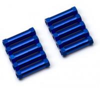 3x20mm Alu. geringes Gewicht runden Ständer (blau)