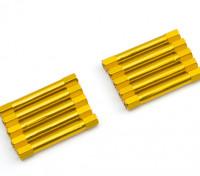 3x37mm Alu. geringes Gewicht runden Ständer (Gold)