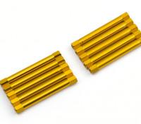 3x45mm Alu. geringes Gewicht runden Ständer (Gold)