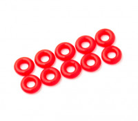 2 in 1 O-Ring-Kit (neon rot) -10pcs / bag