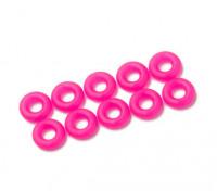 2 in 1 O-Ring-Kit (neon pink) -10pcs / bag