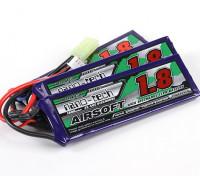 Turnigy Nano-Tech-1800mAh 3S 25 ~ 50C Lipo AIRSOFT-Pack