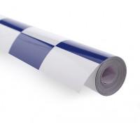 Bedecken Film Große Muster Grill-Arbeit Blau / Weiß (5mtr)