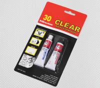 EV830 / 20G 30 Min Cure Klar Epoxy-Kleber