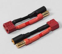 5.5mm Kugel-Connector-auf-T-Verbindungsstück Batterie-Adapter (2 Stück / bag)