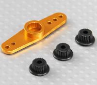 Universal Aluminium Zwei-Wege-Servo Arm - JR, Futaba & HITEC (goldene)
