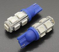LED-Mais-Licht-12V 1.8W (9 LED) - Blau (2 Stück)