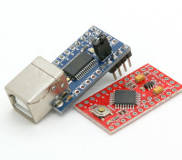 Kingduino Pro Mini Mikrocontroller 3.3V / 8MHz w / Mini-USB-Adapter