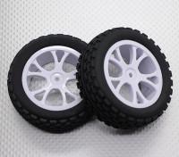 Vorne Buggy Reifen Set 2sets (Split 5-Spoke) - 1/10 Quanum Vandal 4WD Racing Buggy (2 Stück)