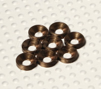 Versenkte Unterlegscheibe eloxiertes Aluminium M3 (Titanium Farbe) (8pcs)