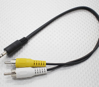 3,5-mm-Stecker Mono-Cinch A / V-Stecker-Adapter-Kabel (300 mm)