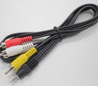 2,5 mm-Stecker Stereo-Cinch A / V-Stecker-Adapter-Kabel (1000mm)