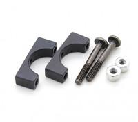 Schwarz eloxiert CNC-Aluminiumrohrklemme 12 mm Durchmesser