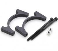 Schwarz eloxiert CNC-Aluminiumrohrklemme 30 mm Durchmesser
