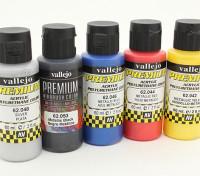 Vallejo Premium-Farbe Acrylfarbe - Metallic-Farbauswahl (5 x 60 ml)