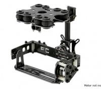 Stoßabsorbierende 2 Achse Brushless Gimbal Kit für Kartentyp-Kameras - Fiberglasausführung