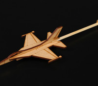 F-16 Praxis-Stick Flugzeug Laser Cut Holzmodell (Kit)