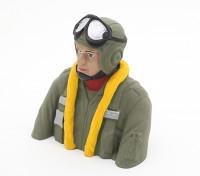 WWII deutsche Pilot (H93 x W88 x D50mm)