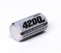 Turnigy Wiederaufladbare Sub-C 4200mAh 1,2V NiMH High Power Serie