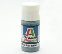 Italeri Acrylfarbe - Flach Non Specular Blau Grau