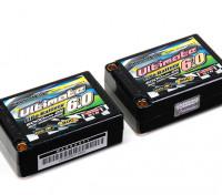 Turnigy Nano-Tech ultimative 6000mAh 2S3P 90C Hardcase Lipo Saddle-Pack (ROAR & BRCA-Zulassung)